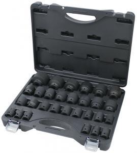 """Bato 1/2"""" krafthylssats korta 10-46mm (29 delar)"""
