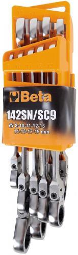 Beta 142SN/SC9 Ringspärrnyckelsats ledade 8-19mm