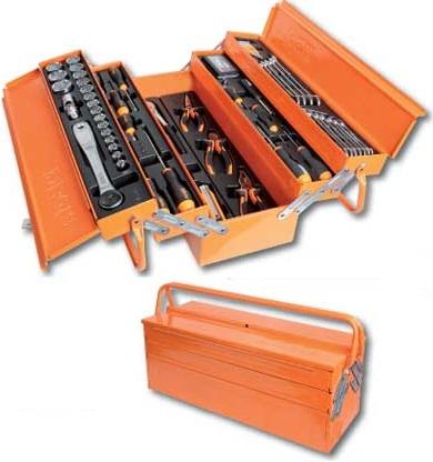 Beta verktygslåda i plåt med 91st verktyg