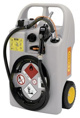 "Cemo ""Diesel Trolley"" 60l 12V dieselpump, batteri, automathandtag"