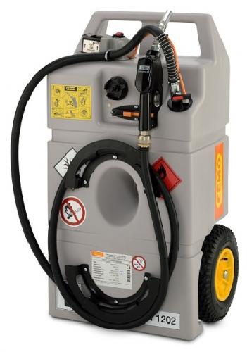 "Cemo ""Diesel Trolley"" 100l 12V dieselpump, batteri, automathandtag"