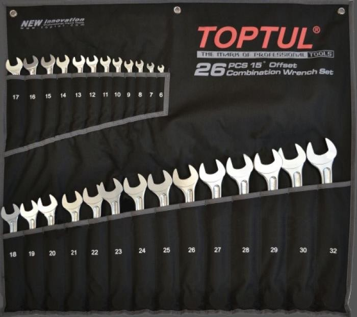 "Toptul GPAX2601 ""Hi-performance"" blocknyckelsats 6-32mm"