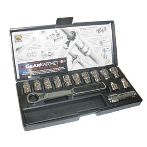 """GearWrench GearRatchet 3/8"""" hylsnyckelsats 10-19mm"""