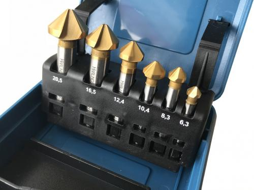 Försänkare 3-skärs 90° 6,3-20,5mm 6st
