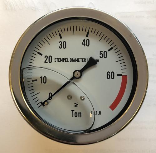 AC reservdel manometer 0-60 ton