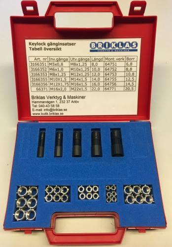Insatsgängor keylocksats M5-M12 (35 delar)