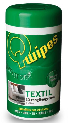 Q-wipes rengöringsdukar - Textil 30st