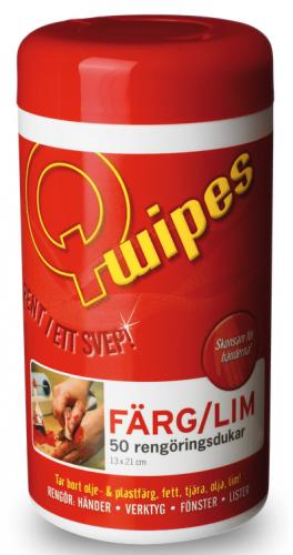 Q-wipes rengöringsdukar - Färg/lim