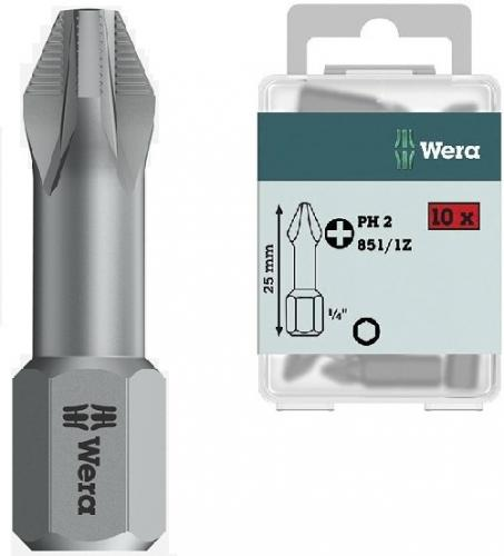 WERA Classic bits 25mm 10-pack