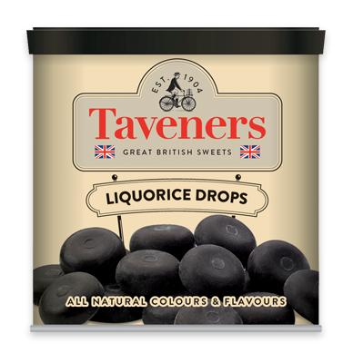Taveners liquorice drops 200g
