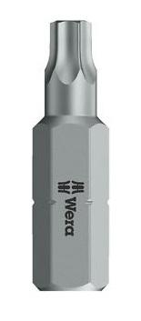 Wera 867/1 Z BO Säkerhetstorx/tamperproof 25mm T9-T10