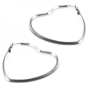 Silver färgade hjärt örhängen från Bijjo