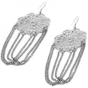 Silverfärgade örhängen från Bijjo