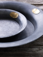 Ljusfat i zink 180*30 mm från Affari