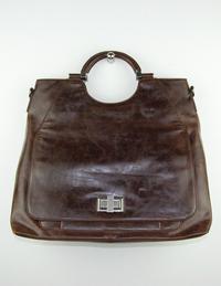Brun större väska