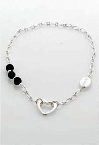 Halsband Eija svart-silver från Baglady