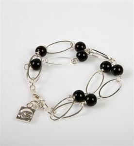 Armband Anna svart -silver från Baglady