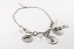 Halsband silverfärgat