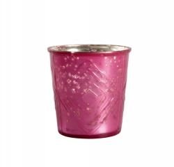 Värmeljushållare rosa