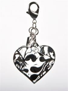 Hänge Cilla silverhjärta från Baglady