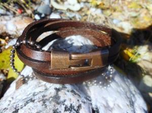 Armband brunt läder