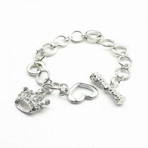 Silverfärgat armband med krona