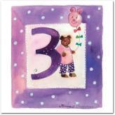 Gratulationskort från Mayaboo 3 år