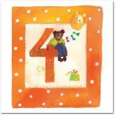 Gratulationskort från Mayaboo 4 år