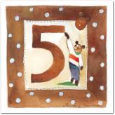 Gratulationskort från Mayaboo 5 år