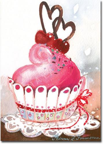 Gulligt kort från Mayaboo cupcake