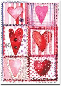 Kort med hjärtan i olika färger från Mayaboo