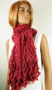 Mörk rosa sjal