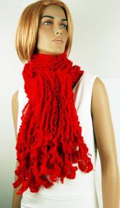 Röd röd sjal