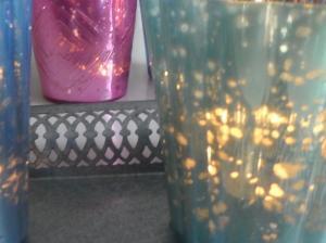 Ljusblå värmeljushållare