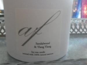 Ljus Spa Sandalwood och Ylang Ylang