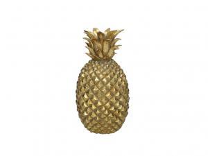 Ljusstake ananas guld