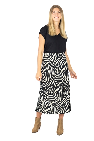 Indira Skirt Black/Sandstone - Capri Collection