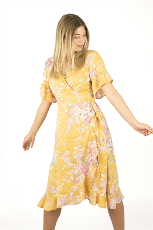 Liv Dress Sun Yellow/Rosebud - Capri Collection
