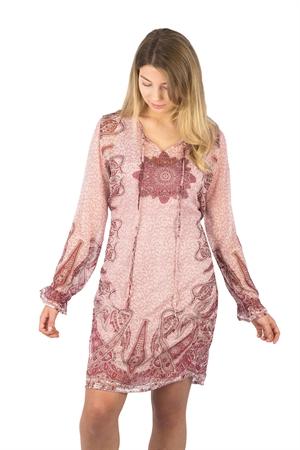 Luisa Dress Fuchsia Rose/Mandrarin/Creme - Capri Collection