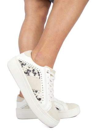 Kenza Sneaker Sand/White - Capri Collection