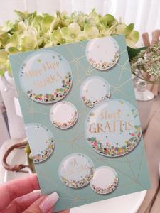 Hipp, hipp, hurra - Stort grattis (confetti), kort från Pictura
