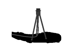 UMAGE Lampstativ - Tripod Bord, Svart