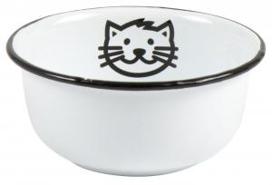 Matskål i emalj till katt - Ib Laursen