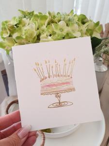 Kort med tårta, från Pictura