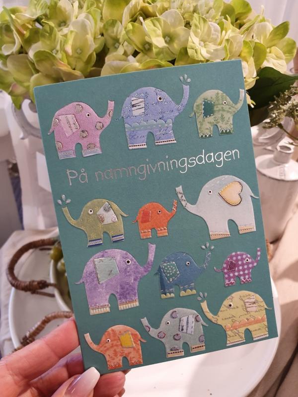 På namngivningsdagen (elefanter), kort från Pictura