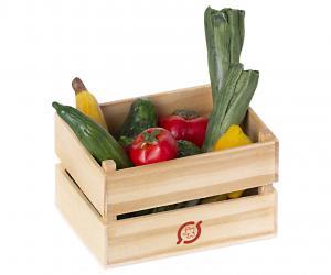 Frukt och grönsaker i trälåda, Maileg     LEV OKT