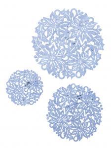 Bordstablett, duk Blomma grå - 3 storlekar