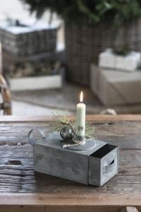 Ljusstake med förvaring, zink - Ib Laursen
