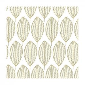 Ambiente Servetter - Oval Leaves Gold