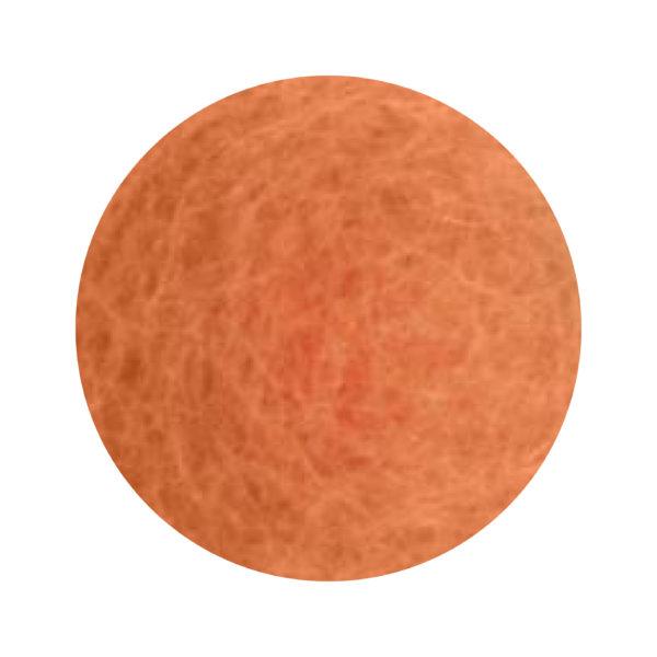 Orange blomma i tovad ull, stor